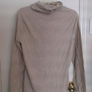 Oatmeal Merona cowl neck long sleeved top